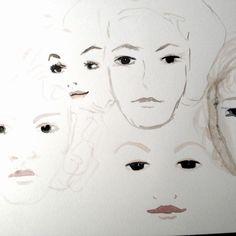 Aquarell: Faces - Warum Perfektion nicht immer gut ist