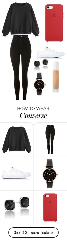 """Sans titre #8987"" by yldr-merve on Polyvore featuring Topshop, Converse, Tacori, Emporio Armani and Puma"