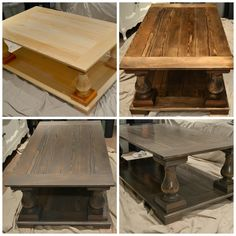 I fell in love with the Restoration Hardware Balustrade Salvaged Wood coffee table but with the Canadian Dollar being so low it would cost me approx $2,700 CADto get it to my door. Yikes! But look how gorgeous it is!!!!....So I did some researc...