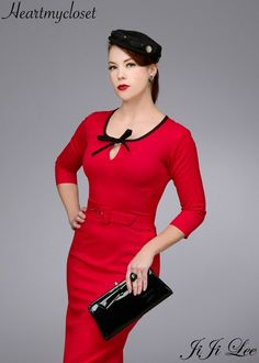 BELLA rockabilly vintage inspired dress 40s 50s custom made
