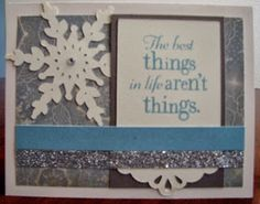 Made with all Close to my Heart products: Frosted paper pack, Artbooking Cricut cartridge, silver glitter trim, clear sparkles, Liquid Glass and The Best Things stamp set.