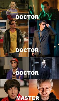 Doctor Who + Big Bang Theory. You'd have to watch it to understand @Lydia Mcinnes