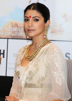 Anushka in Traditional look with Bindi
