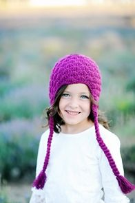 Purple Earflap Hat on sale this week for $12!