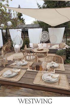Diy Design, Interior Design, Thalia, Backyard, Patio, White Houses, Terrazzo, Porch, Restaurant
