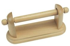 Wooden Toilet Roll Holder wood Wall Mounted by Apollo