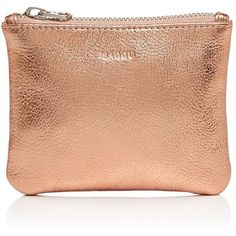 Baggu Small Metallic Flat Pouch (93 BRL) ❤ liked on Polyvore featuring beauty products, beauty accessories, bags & cases, copper and baggu