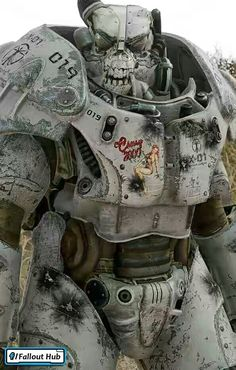 """fallout addicted: """"You're wandering the Wasteland and you meet this guy. Fallout Art, Fallout Posters, Fallout Concept Art, Fallout New Vegas, Fallout Tattoo, Fallout Meme, Fallout 4 Mods, Fallout Cosplay, Fallout Costume"""