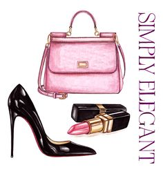 Simply Elegant illustration inspired by accessories
