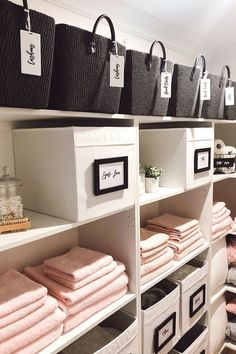 This Sydney mum's linen cupboard is picture perfect - Better Homes and Gardens: DIY, Renovation, Gardening & Recipes Linen Closet Organization, Home Organization Hacks, Bathroom Organisation, Closet Storage, Organising Ideas, Organisation Ideas, Kitchen Organization, Airing Cupboard, Linen Cupboard