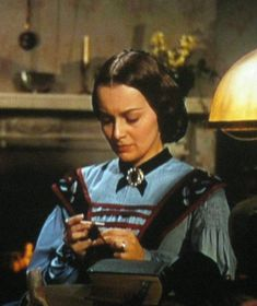 Olivia de Havilland's as Melanie Wilkes crocheting in Gone With the Wind