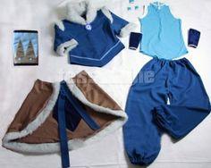 Avatar The Legend of Korra Korra Cosplay Costume - Custom made in any size Katara Costume, Avatar Costumes, Avatar Cosplay, Cosplay Diy, Tutu Costumes, Anime Costumes, Movie Costumes, Cosplay Costumes, Halloween Costumes
