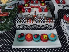 Disney's Cars birthday party cookies! See more party ideas at CatchMyParty.com!