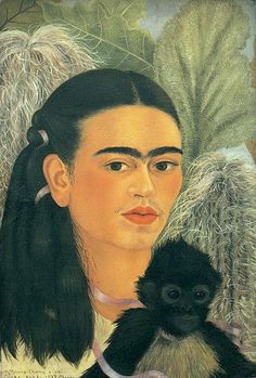 Frida Kahlo:  Self-Portrait - Fulang Chang and I, 1937