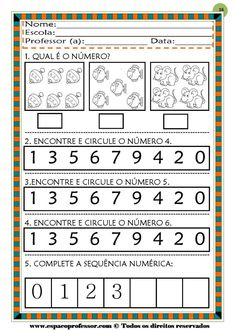 50 atividades de matemática  educação infantil Learn French, Periodic Table, Diagram, Learning, Montessori, David, Pasta, Learning Activities For Kids, Reading Activities