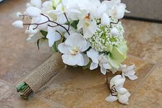 White Orchid and Burlap Garden Rustic by SouthernGirlWeddings, $140.00