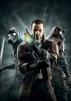 Dishonored, The Knife of Dunwall DLC Promo Art // Daud and the Whalers