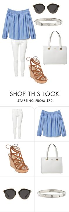 """""""hamptons"""" by fashionblogger2122 on Polyvore featuring Mother, GUESS, Kate Spade, Christian Dior and Cartier"""