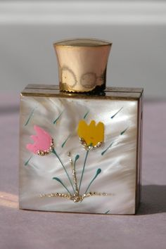 Mini Perfume Bottle Decorative - 1950's - Perfect from timeinabottle on Ruby Lane..