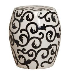 Circle Motif Ceramic Garden Stool wwwfinegardenproductscom