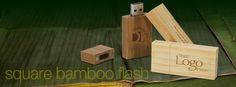 Bamboo - Square Drives | Wood & Bamboo Drives | USB Flash Drives | Photoflashdrive.com