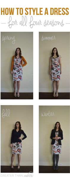 How to Style a Dress for Four Seasons @ Greater Than Rubies