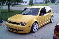 GTI VW Golf Mk4 - Yellow Car
