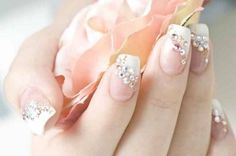 nice French Rhinestone Nail Designs - Nail Designs Picture