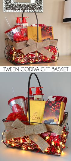 Don't know what to give a tween? This age appropriate gift basket is full of luxury like Godiva chocolates and pampering items! Completely swoon-worthy! #giveGODIVA #pmedia #ad