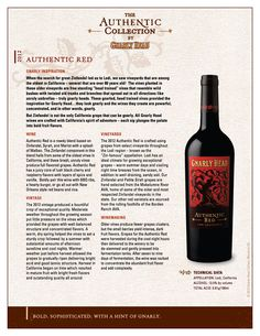 Gnarly Head | Authentic Red 2012 | Blend based on Zinfandel, Syrah, and Merlot with a splash of Malbec