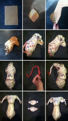 do you know what are the possibilities of having great crafts from Paper Mache? Then here are Creative DIY Paper Mache Crafts Ideas you should try! Paper Mache Head, Paper Mache Sculpture, Paper Mache Projects, Paper Mache Crafts, Art Projects, Diy Paper, Paper Art, Cardboard Paper, Paper Mache Animals
