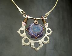 Amethyst Stalactite in the Lotus Flower by SilviasCreations, $189.00