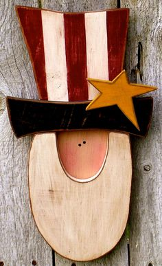 Primitive Americana Uncle Sam with Patriotic Star, Antiqued Patriotic Uncle Sam Fourth of July Americana Decor with Primitive Star by ladybugsspot on Etsy https://www.etsy.com/listing/153980938/primitive-americana-uncle-sam-with