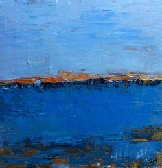 sea front peinture abstraite 50x50cms par ISANATIVELLE sur Etsy