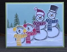 Stamp with Anna: Snow Family