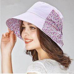7dd10944d67 Summer womens bow sun hat wide brim flower bucket hats