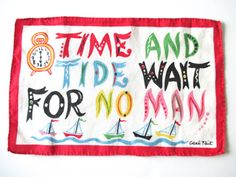 Vintage Cocktail Napkin Proverb Carl Tait Nautical by NeatoKeen, $16.00