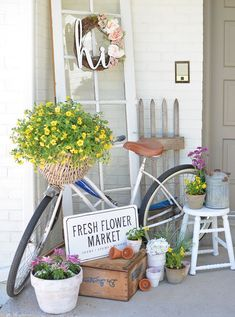 Farmhouse Style Summer Porch {wine glass writer}
