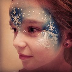 Testing an Elsa inspired facepaint design