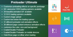 Download Free              Preloader Ultimate - Wordpress Plugin            #               css3 animation #css3 loader #loader #loading #preload #preloader #preloader plugin #site loader #site preloader #spinner #svg loader #wordpress loader #wordpress loading #wordpress preloader