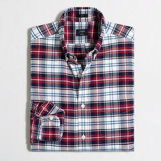 J.Crew Factory - Factory slim plaid oxford shirt