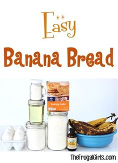 Easy Banana Bread Recipe! ~ from TheFrugalGirls.com ~ your family will go bananas for this delicious breakfast treat! #recipes #thefrugalgirls