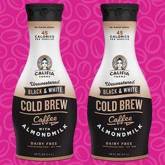 Califia Farms Unsweetened Black & White Cold Brew Coffee with Almondmilk