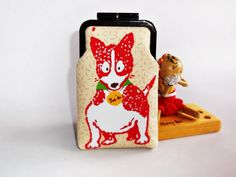 Dog case, Dog cell phone case, iPhone case, Cell phone holder, Glasses case, iPhone 4s case, iPhone 5 case, eyeglass case, camera case op Etsy, 21,72 €