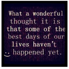 it is a wonderful thought....
