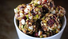 This Cranberry Pistachio Energy Bites recipe is a no-bake energy bites. It's combined with cranberry, pistachio, chia seeds, oats and held together with honey. Snack Recipes, Cooking Recipes, Healthy Recipes, Detox Recipes, Superfood Recipes, Oven Recipes, Healthy Dishes, Simple Recipes, Healthy Options
