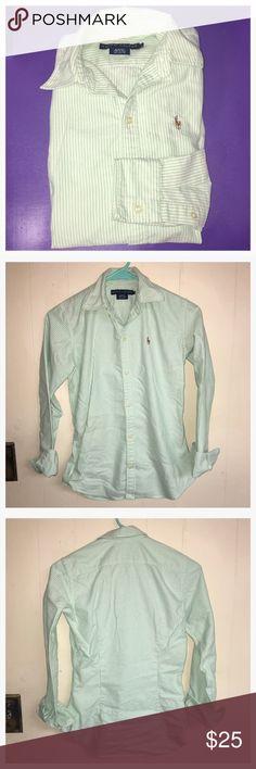 Selling this Size 0 Women's Green Ralph Lauren Shirt on Poshmark! My username is: mkelley8907. #shopmycloset #poshmark #fashion #shopping #style #forsale #Ralph Lauren #Tops