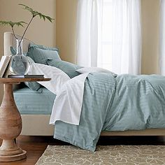 Classic Stripe Sateen Duvet Cover/Comforter Cover and Sham