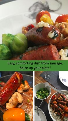 It cannot get easier and faster than this. #sausage #yummysausage #sausagerecipe #cookingsausage #spicysausage #comfortfood #homecooking #recipe #eatwell Spicy Sausage, Sausage Recipes, Comfortfood, Eating Well, Chicken Wings, Spice Things Up, Spices, Vegetarian, Yummy Food