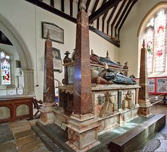 This magnificent monument to the first Earl and Countess of Southampton in the South chapel of St Peter's church was commissioned by their son Henry Wriothesley the second Earl, under his will dated It is by Gerard. St Peter's Church, Portsmouth, Southampton, Tudor, Hampshire, Monuments, Dates, Two By Two, Stairs